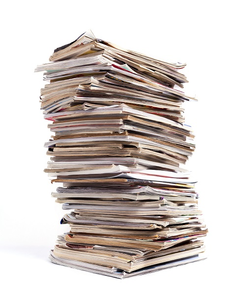 Pile of documents to keep