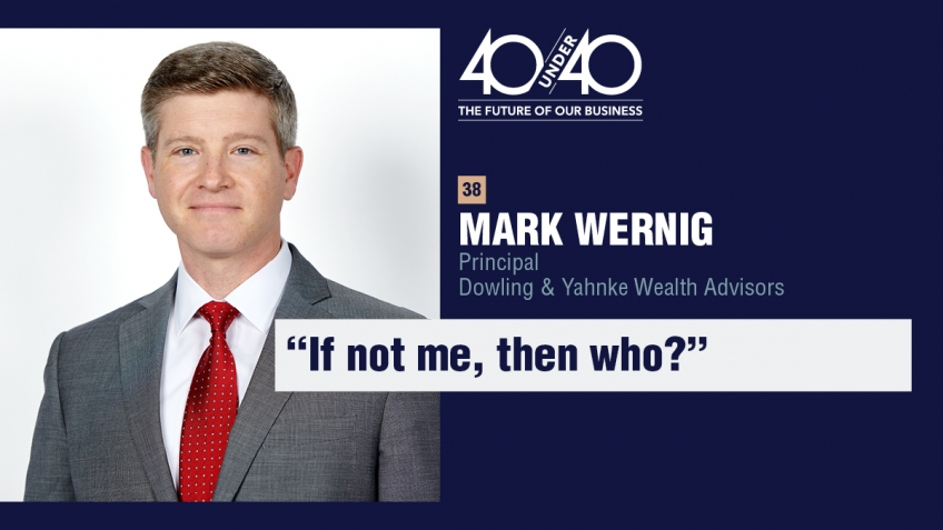 Mark Wernig, CFP Named to InvestmentNews' 2020 40 Under 40 List