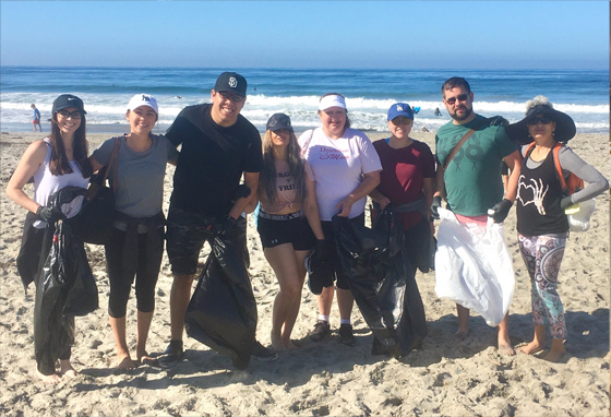 Beach cleanup by the D&Y Employees