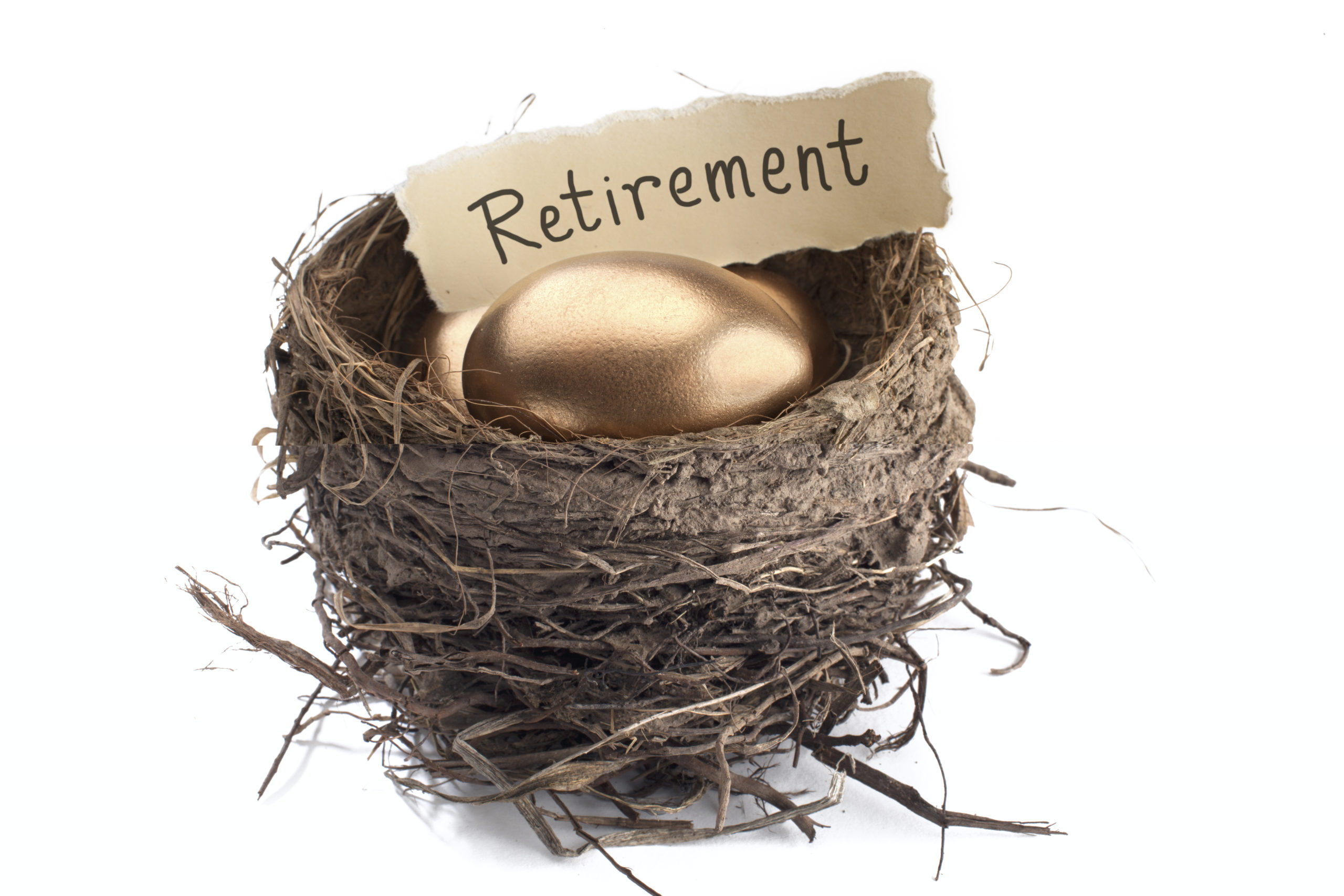 Golden eggs in a next with the title: Retirement