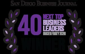 San Diego Business Journal Next tp 40 Winner