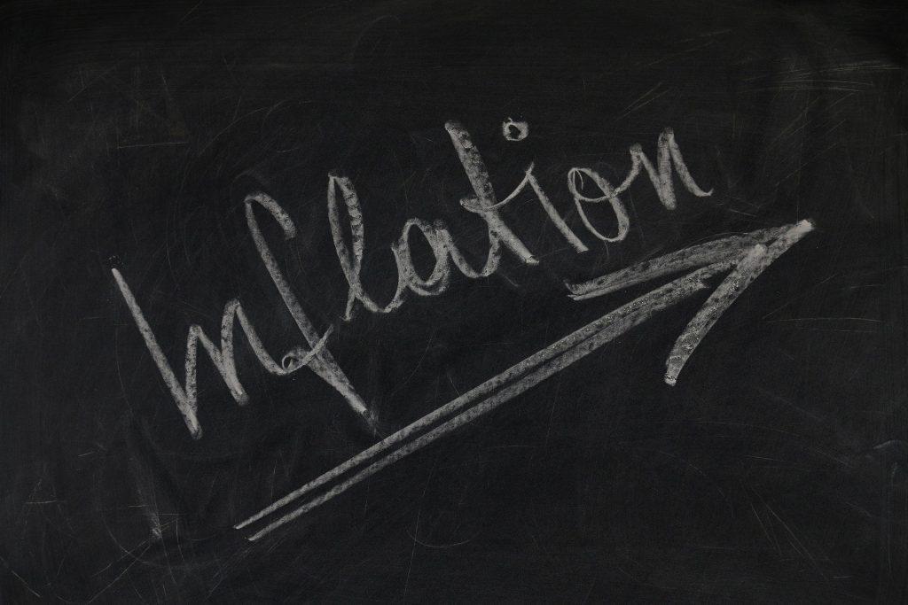 inflation written on a chalkboard
